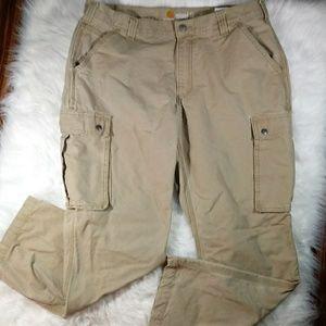 Carhartt Mens Tan Cargo Work Pants 38/30